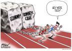 Cartoonist Gary Varvel  Gary Varvel's Editorial Cartoons 2011-06-08 2012 election economy