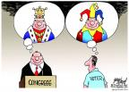 Cartoonist Gary Varvel  Gary Varvel's Editorial Cartoons 2011-08-14 king