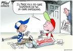 Cartoonist Gary Varvel  Gary Varvel's Editorial Cartoons 2013-06-06 baseball suspension