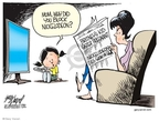 Cartoonist Gary Varvel  Gary Varvel's Editorial Cartoons 2007-12-22 parenting