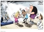 Cartoonist Gary Varvel  Gary Varvel's Editorial Cartoons 2008-01-25 2008 debate