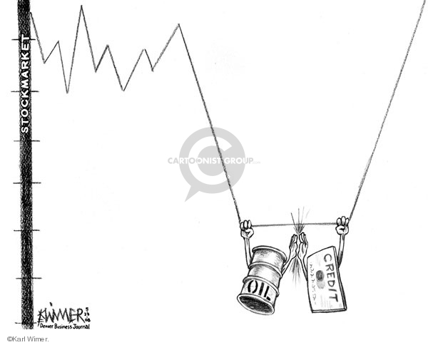 Karl Wimer  Karl Wimer Financial Cartoons 2008-05-28 stock market
