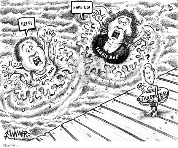 Karl Wimer  Karl Wimer Financial Cartoons 2008-07-25 tax