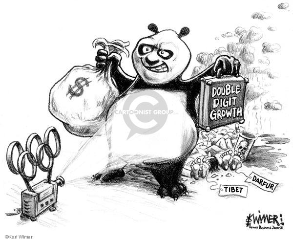 Karl Wimer  Karl Wimer Financial Cartoons 2008-08-08 chinese