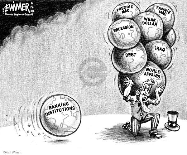 Karl Wimer  Karl Wimer Financial Cartoons 2008-09-26 atlas