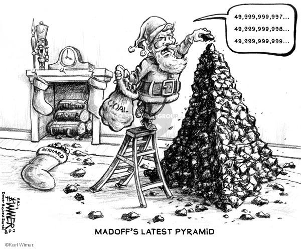 Karl Wimer  Karl Wimer Financial Cartoons 2008-12-26 pyramid