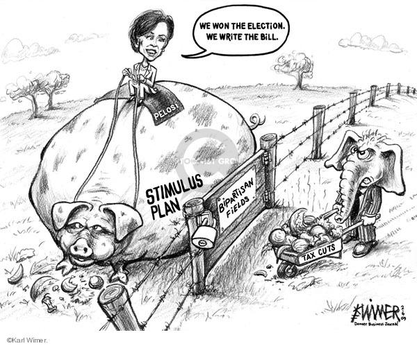 Karl Wimer  Karl Wimer Financial Cartoons 2009-02-06 tax