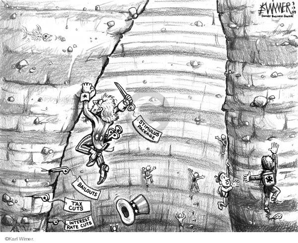 Karl Wimer  Karl Wimer Financial Cartoons 2009-03-13 tax