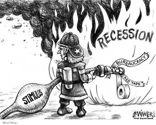 Cartoonist Karl Wimer  Karl Wimer Financial Cartoons 2009-03-27 recession