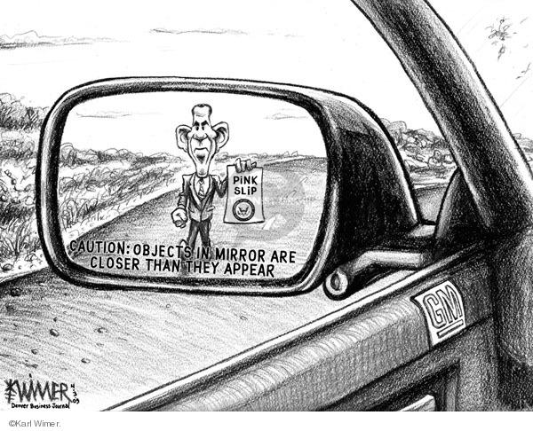 Cartoonist Karl Wimer  Karl Wimer Financial Cartoons 2009-04-03 unemployment