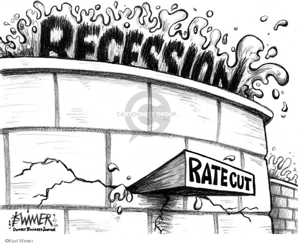 Cartoonist Karl Wimer  Karl Wimer Financial Cartoons 2007-09-21 recession