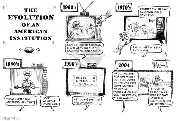 Karl Wimer  Karl Wimer Financial Cartoons 2004-02-06 1970s
