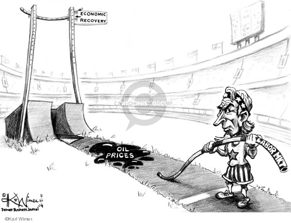 Karl Wimer  Karl Wimer Financial Cartoons 2004-08-20 economy
