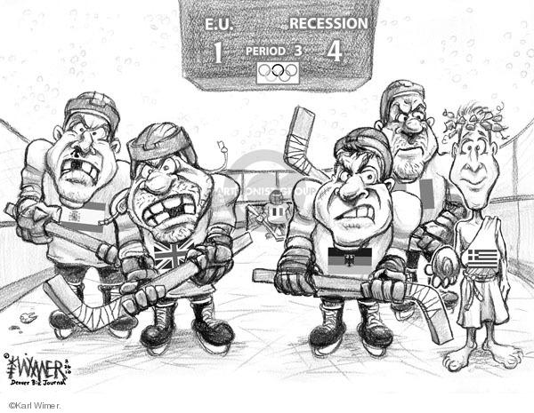 Karl Wimer  Karl Wimer Financial Cartoons 2010-02-26 2010 Olympics