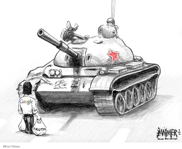 Karl Wimer  Karl Wimer Financial Cartoons 2010-03-26 chinese