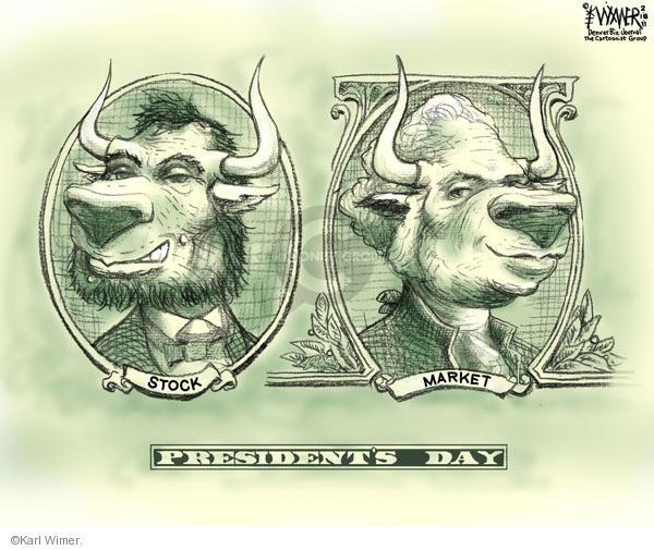 Karl Wimer  Karl Wimer Financial Cartoons 2011-02-18 president