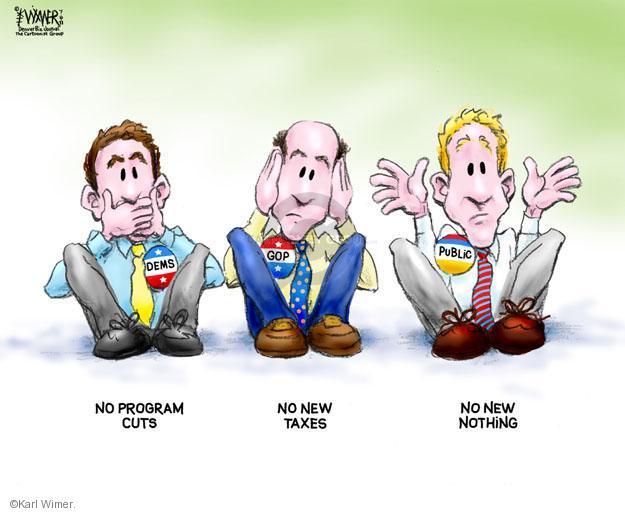 Karl Wimer  Karl Wimer Financial Cartoons 2011-07-08 tax
