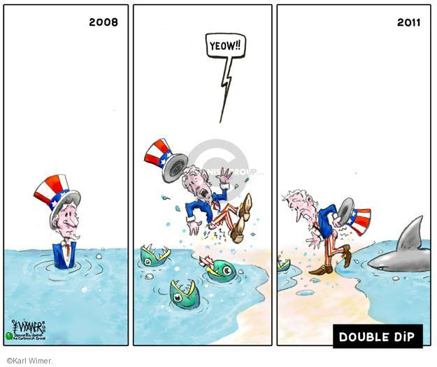 Cartoonist Karl Wimer  Karl Wimer Financial Cartoons 2011-08-12 recession