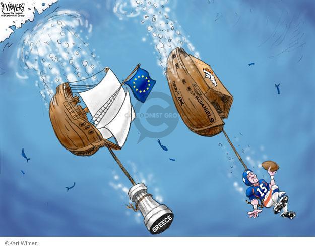 Greece. S.S. Mc Daniels. Tebows Ark. F. 15.