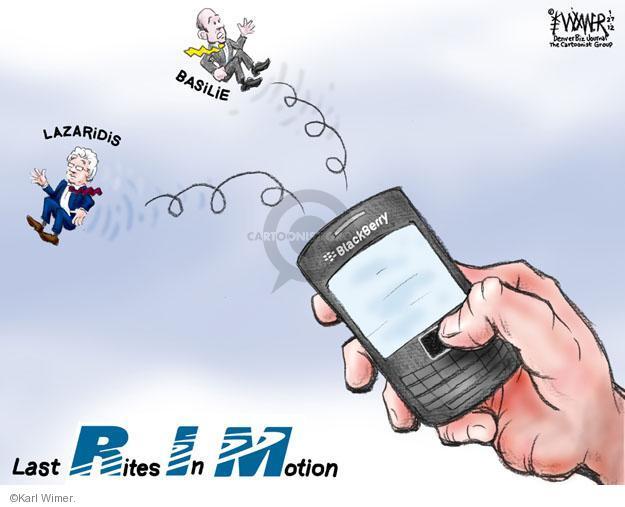 Cartoonist Karl Wimer  Karl Wimer Financial Cartoons 2012-01-27 technology