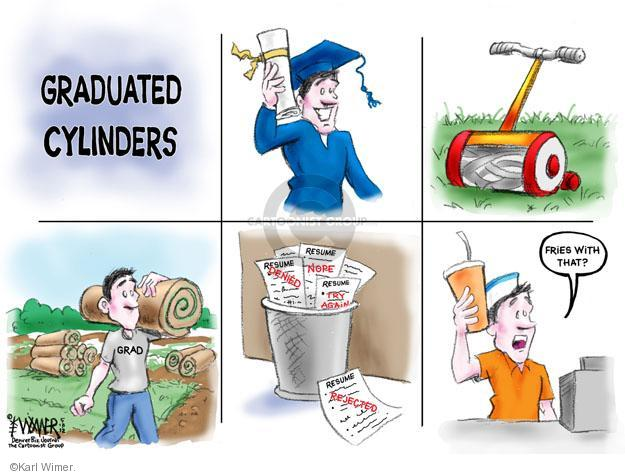 Cartoonist Karl Wimer  Karl Wimer Financial Cartoons 2012-05-18 unemployment