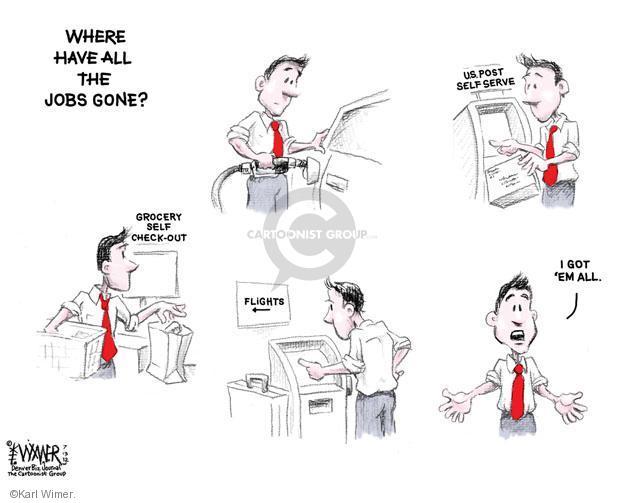 Cartoonist Karl Wimer  Karl Wimer Financial Cartoons 2012-07-13 unemployment