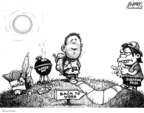 Cartoonist Karl Wimer  Karl Wimer Financial Cartoons 2007-09-08 summer end
