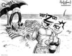 Cartoonist Karl Wimer  Karl Wimer Financial Cartoons 2005-02-18 beach