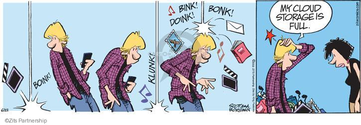 Boink! Clunk! Bink! Doink! Bonk! My Cloud storage is full.